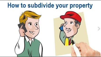 Subdivision - dividing your property using professional help
